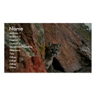 León de montaña tarjeta personal