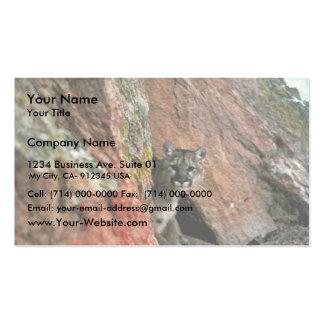 León de montaña plantillas de tarjetas personales