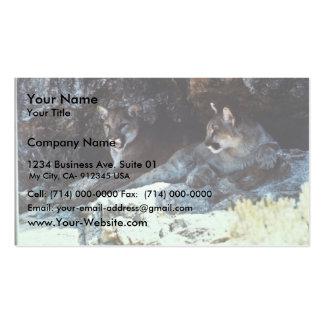León de montaña tarjeta de visita