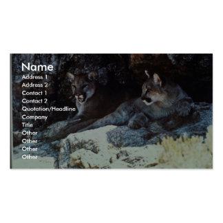 León de montaña tarjetas de negocios
