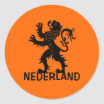 León de Nederland Pegatina