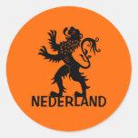 León de Nederland Pegatina Redonda