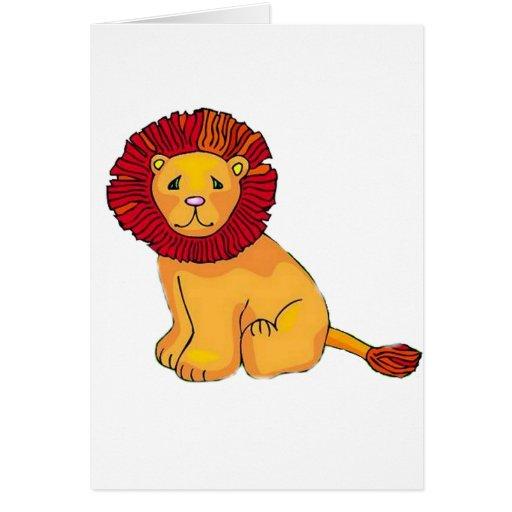 León de papel tarjeta de felicitación