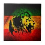 León de Rasta del reggae Azulejos Cerámicos