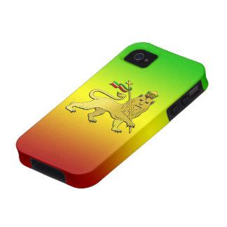 León de Rasta del reggae de Judah iPhone 4 Carcasa
