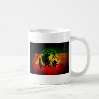 León de Rasta del reggae Taza Clásica