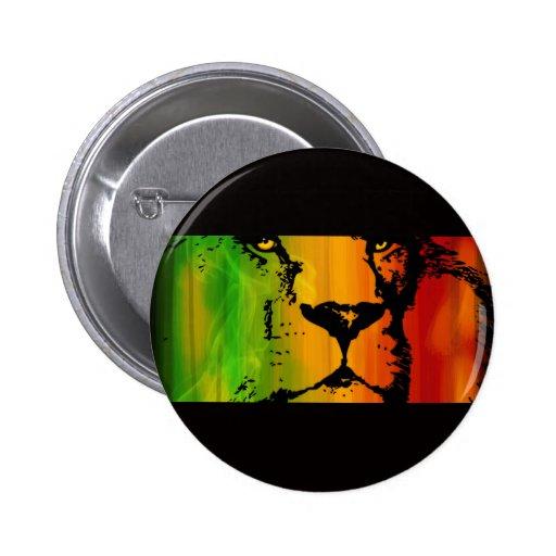 León de Rasta Pin Redondo 5 Cm