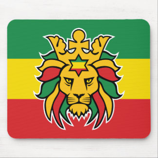 León de Rastafari de Judah Alfombrilla De Raton