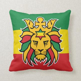 León de Rastafari de Judah Cojín Decorativo