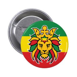 León de Rastafari de Judah Pin Redondo De 2 Pulgadas