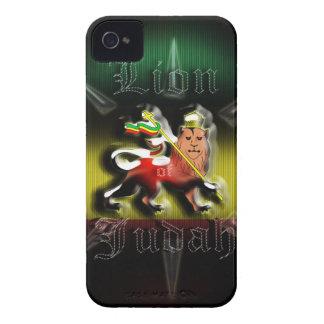 León de Rastafari de la casamata Cas de Judah iPhone 4 Case-Mate Fundas