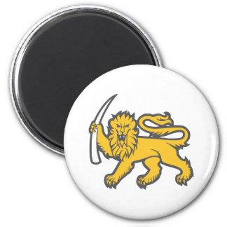 León de Rhodesian Imán Redondo 5 Cm