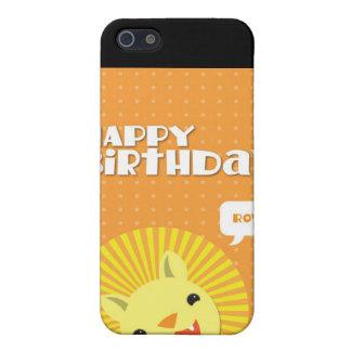 León de Rowr del feliz cumpleaños iPhone 5 Funda