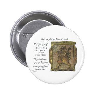 León del anillo de Judah Pin Redondo De 2 Pulgadas