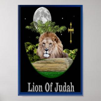León del arte del poster de Judah