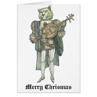 León del banjo tarjeta de felicitación