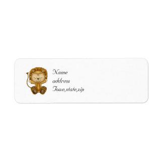 León del bebé de Halloween Etiqueta De Remite