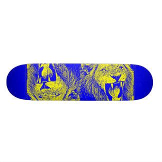 león del bleu patineta personalizada