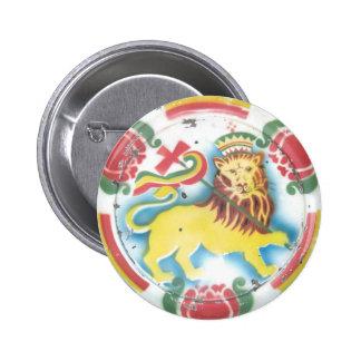 León del botón/del perno de Judah Pin Redondo De 2 Pulgadas