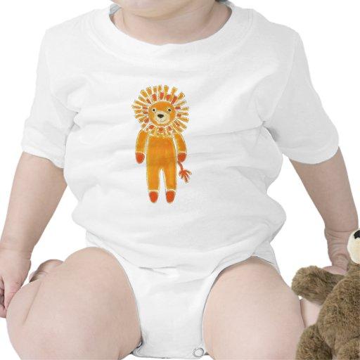 León del calcetín traje de bebé