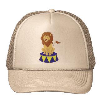 León del circo del dibujo animado gorras de camionero