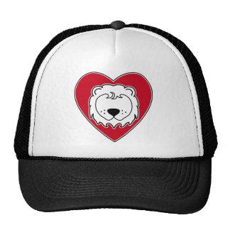 León del corazón gorras