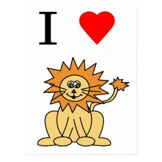 león del corazón i postal