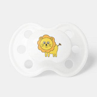León del dibujo animado chupetes para bebes