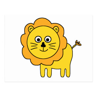 León del dibujo animado postal