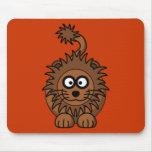 León del dibujo animado tapete de ratones