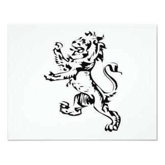 """león del escudo invitación 4.25"""" x 5.5"""""""
