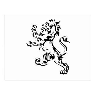 león del escudo postales
