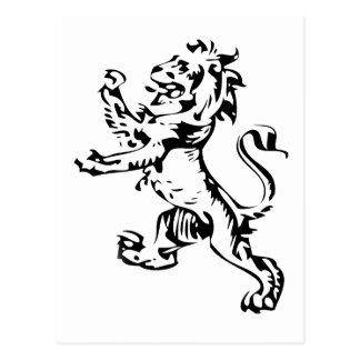 león del escudo tarjeta postal