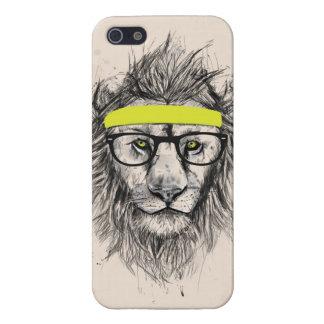 león del inconformista (fondo ligero) iPhone 5 fundas