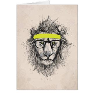 León del inconformista (fondo ligero) tarjeta pequeña