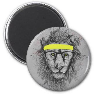 León del inconformista imán redondo 5 cm