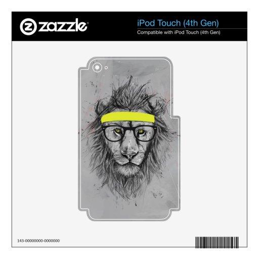 León del inconformista iPod touch 4G calcomanías
