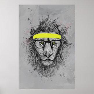 león del inconformista póster