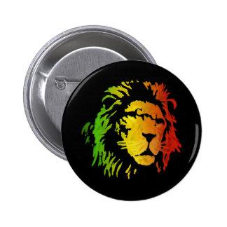 León del león del reggae de Zion Judah Pin Redondo De 2 Pulgadas