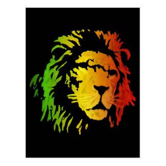 León del león del reggae de Zion Judah Postal