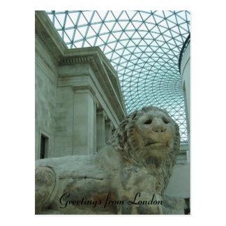 león del museo británico postal