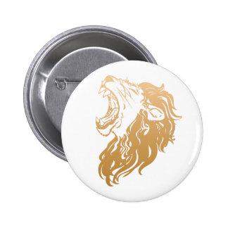 león del oro pin redondo 5 cm