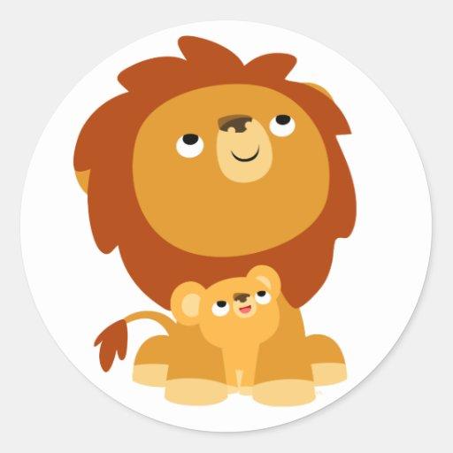 León del papá del dibujo animado lindo y pegatina | Zazzle