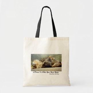 León del parque zoológico que soña con una bolsa