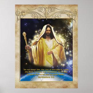 León del poster de Judah de la tribu
