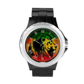 León del reggae de Cori Reith Rasta Relojes De Pulsera