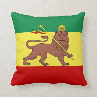 León del reggae de Rasta de Judah Cojín Decorativo