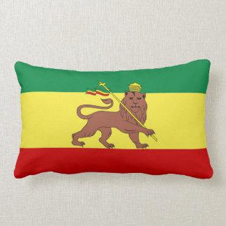 León del reggae de Rasta de Judah Cojín Lumbar