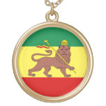 León del reggae de Rasta de Judah Colgante Redondo