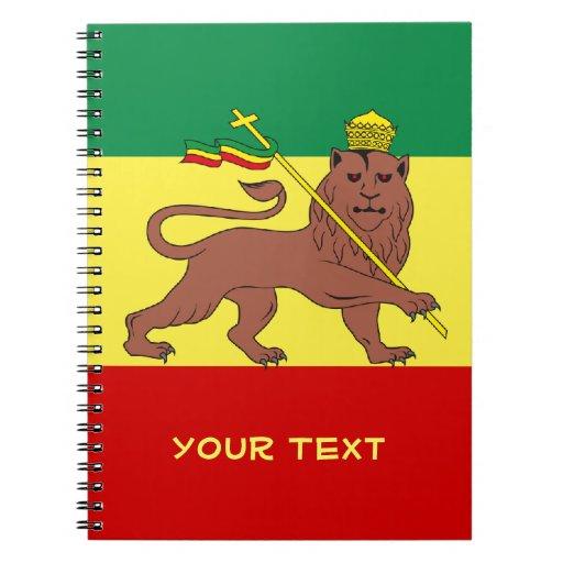 León del reggae de Rasta de Judah Libro De Apuntes Con Espiral